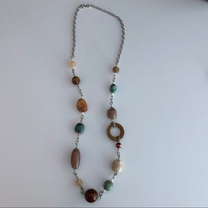 Jewelry - Stone and Wood Bead Necklace